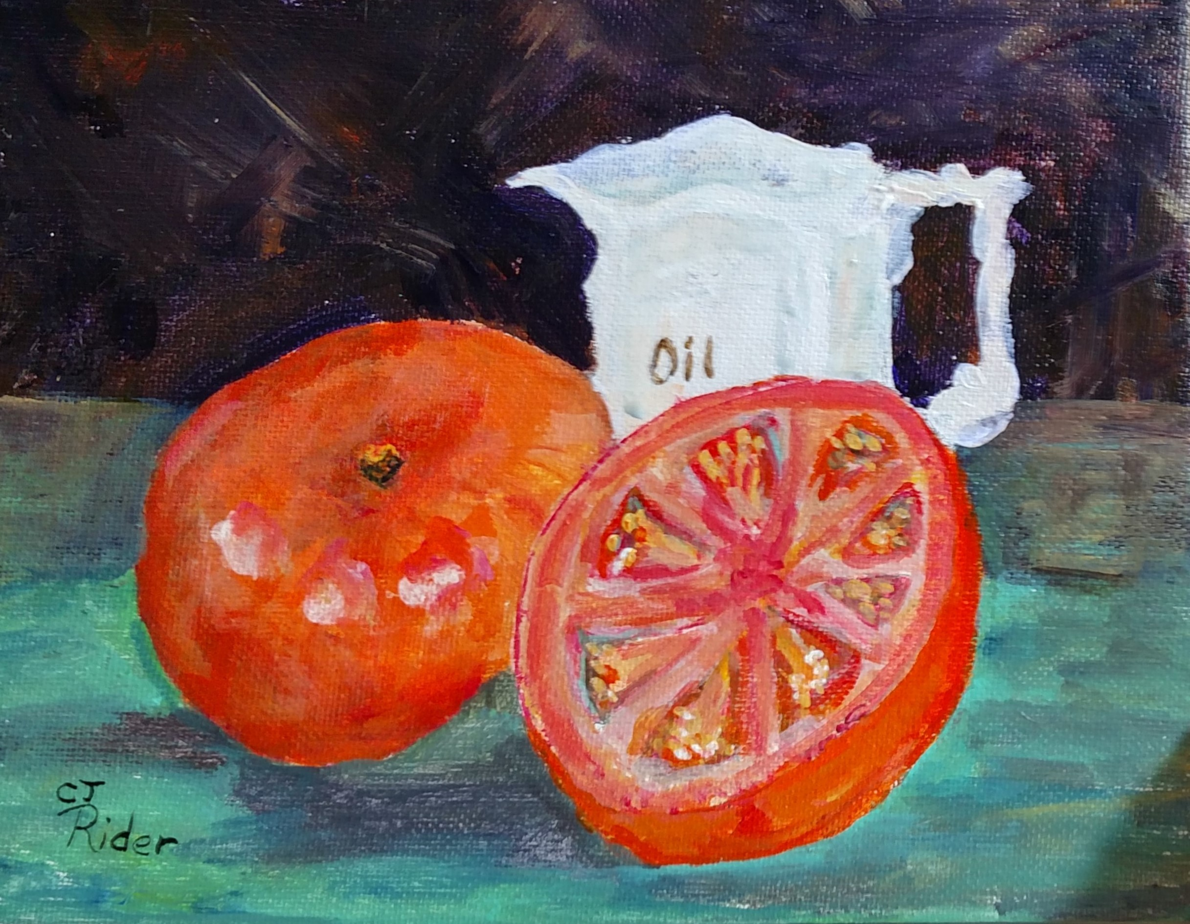 Daily Painting Slice Tomato 9x7  $250