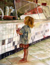 Fine art.  Portrait in Oil - Soda Fountain